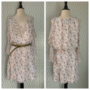 {WHBM} Floral Boho Dress with {CABI} Belt